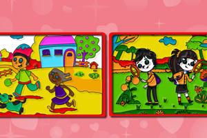 《孩子玩耍时间着色》游戏画面1