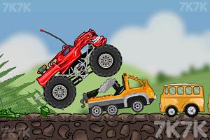 《玩具卡车破坏之路》游戏画面1
