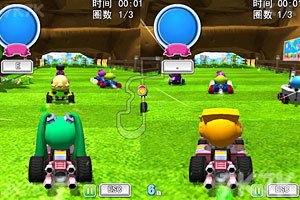 《泡泡堂卡丁车赛》游戏画面1