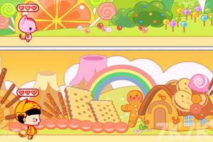 《小黑花花捡糖果》游戏画面3