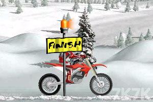 《冰山雪地摩托车》游戏画面4