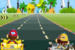 《卡通跑车计时赛》游戏画面1
