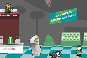 《超市保安打小偷无敌版》游戏画面1
