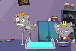灰太狼洗碗