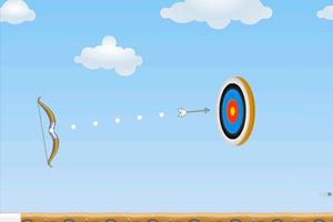 《弓箭射击练习赛无敌版》游戏画面1