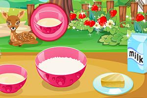 《制作美味草莓蛋糕》游戏画面1