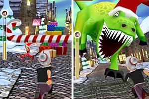 《愤怒奶奶玩跑酷圣诞版》游戏画面1