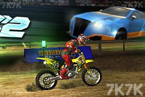 《3D极限越野摩托圣诞版》游戏画面2