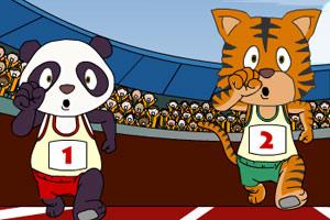 《老虎和熊猫跨栏》游戏画面1