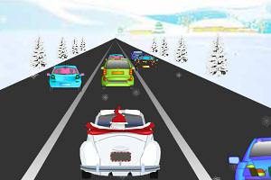 《圣诞老人公路飙车》游戏画面1