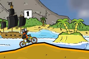 《疯狂脚踏车赛》游戏画面1