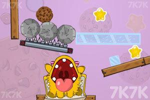 《小黄怪吃饼干选关版》游戏画面1