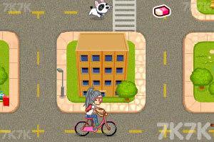 《美眉骑车上学》游戏画面3
