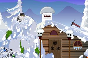《小猫逃离冰雪房屋》游戏画面1