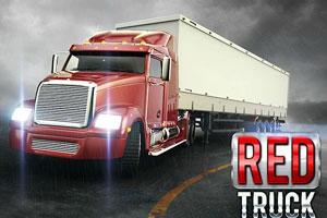 《红色大卡车停车》游戏画面1