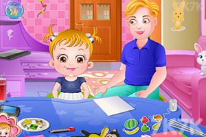 《可爱宝贝放风筝》游戏画面2