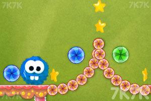 《龅牙球吃糖果》游戏画面2
