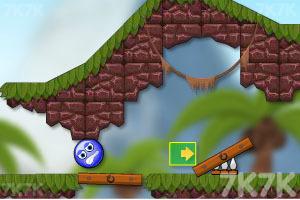 《蓝色小球》游戏画面1
