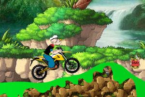 大力水手骑摩托车