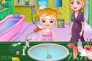 《可爱宝贝清理浴室》游戏画面2