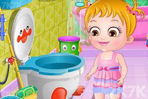 《可爱宝贝清理浴室》游戏画面5