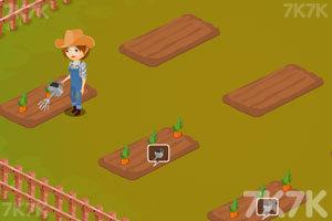 《照顾农场里的小兔子》游戏画面3
