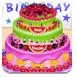 美味的水果生日蛋糕