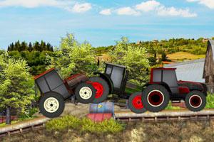《拖拉机障碍赛》游戏画面1