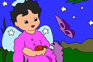 《小孩花园上色》游戏画面1