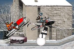 《冬季雪地赛车》游戏画面1