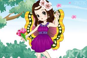 《萌萌的蝴蝶女孩》游戏画面1