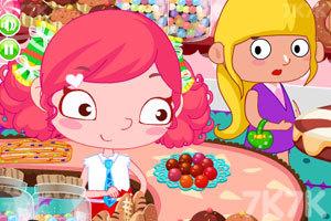 《糖果女孩爱偷懒》游戏画面1