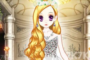 《森迪公主的婚纱装扮》游戏画面2