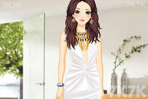 《时尚的深V礼服》游戏画面1
