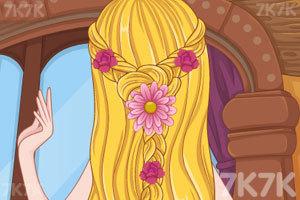 长发公主的婚礼发型