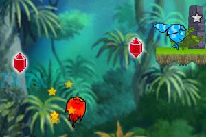 《冰娃火娃森林冒险》游戏画面1