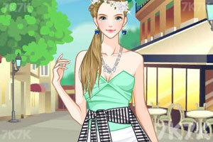 《女孩的美丽春装》游戏画面1