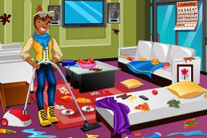 《小狼人打扫房间》游戏画面1