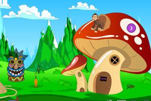 《小精灵蘑菇屋逃脱》游戏画面1