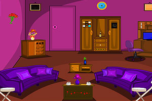 《紫色客厅逃脱》游戏画面1