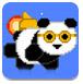 像素熊猫飞行