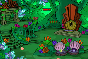 《绿色梦幻洞穴逃脱》游戏画面1