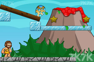 《野人与恐龙蛋》游戏画面2