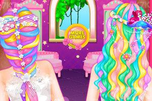 《长发公主的婚礼美发》游戏画面3