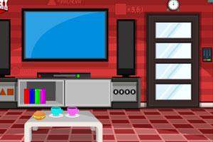 《红色的客厅逃脱》游戏画面1