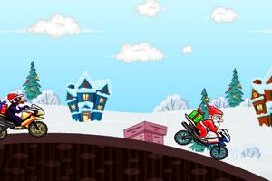 《圣诞老人骑摩托赛》游戏画面2