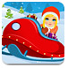 小女孩去滑雪