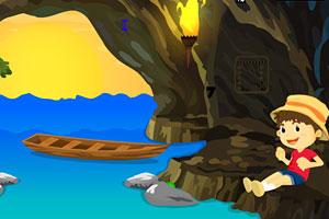《地下河洞穴逃脱》游戏画面1
