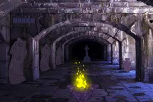 《黑暗石砌城堡逃脱》游戏画面1