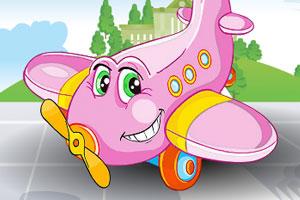 清洗粉色的小飞机